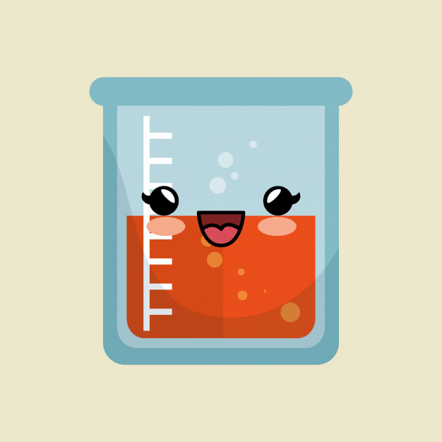 626x626 Cute Kawaii Beaker Laboratory Liquid Icon Vector Premium Download