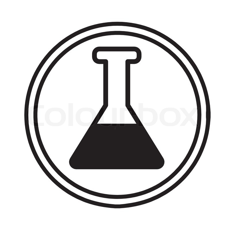 800x800 Image Of Chemical Glassware Symbol Icon Vector Stock Vector