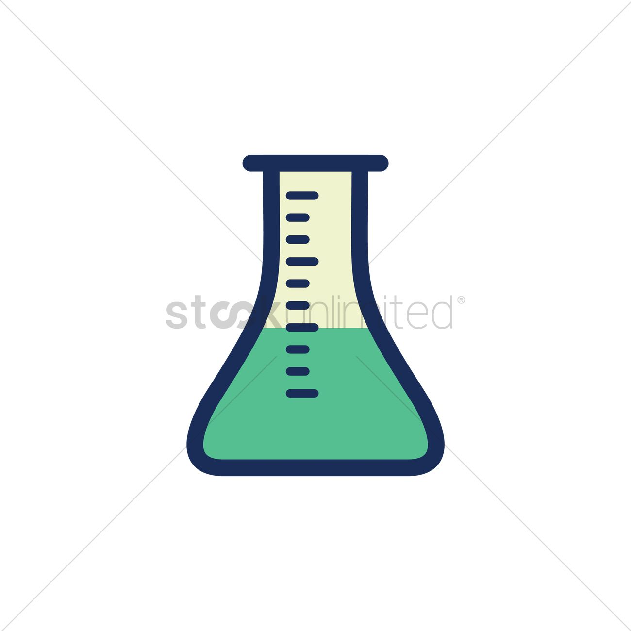 1300x1300 Chemical Beaker Vector Image