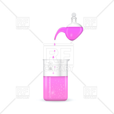 400x400 Retort With Chemical Beaker Vector Image Vector Artwork Of Signs