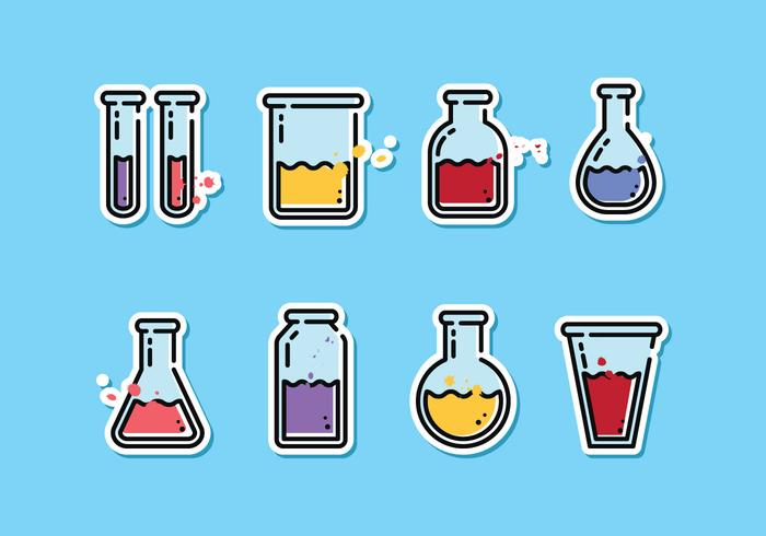 700x490 Science Beaker Vector Pack
