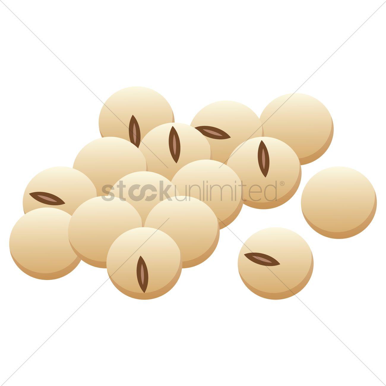 1300x1300 Soya Bean Vector Image