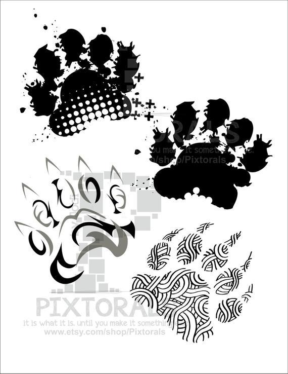 Bear Paw Print Vector