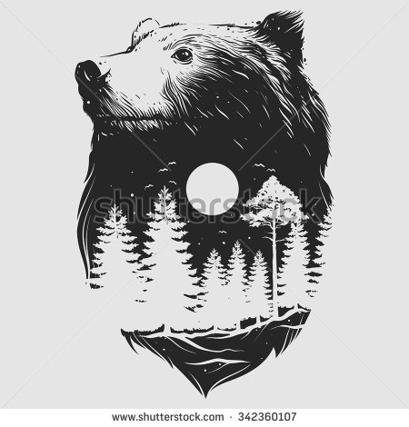 450x470 Collection Of Abstract Bear Drawing High Quality, Free
