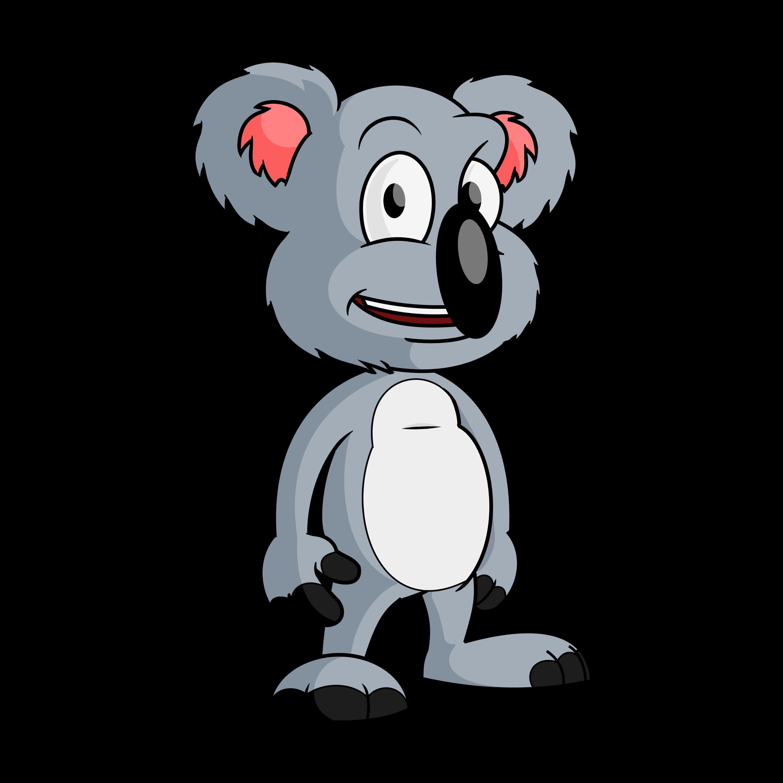 3000x3000 Free Cartoon Koala Bear Clip Art Vector