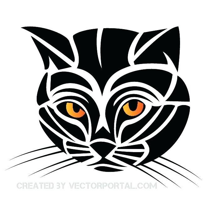 660x660 Free Black Clip Art Cat Silhouette Vectors Download Free Vector