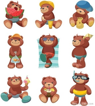 333x368 Lovely Teddy Bear Vector Graphic Free Vector In Encapsulated