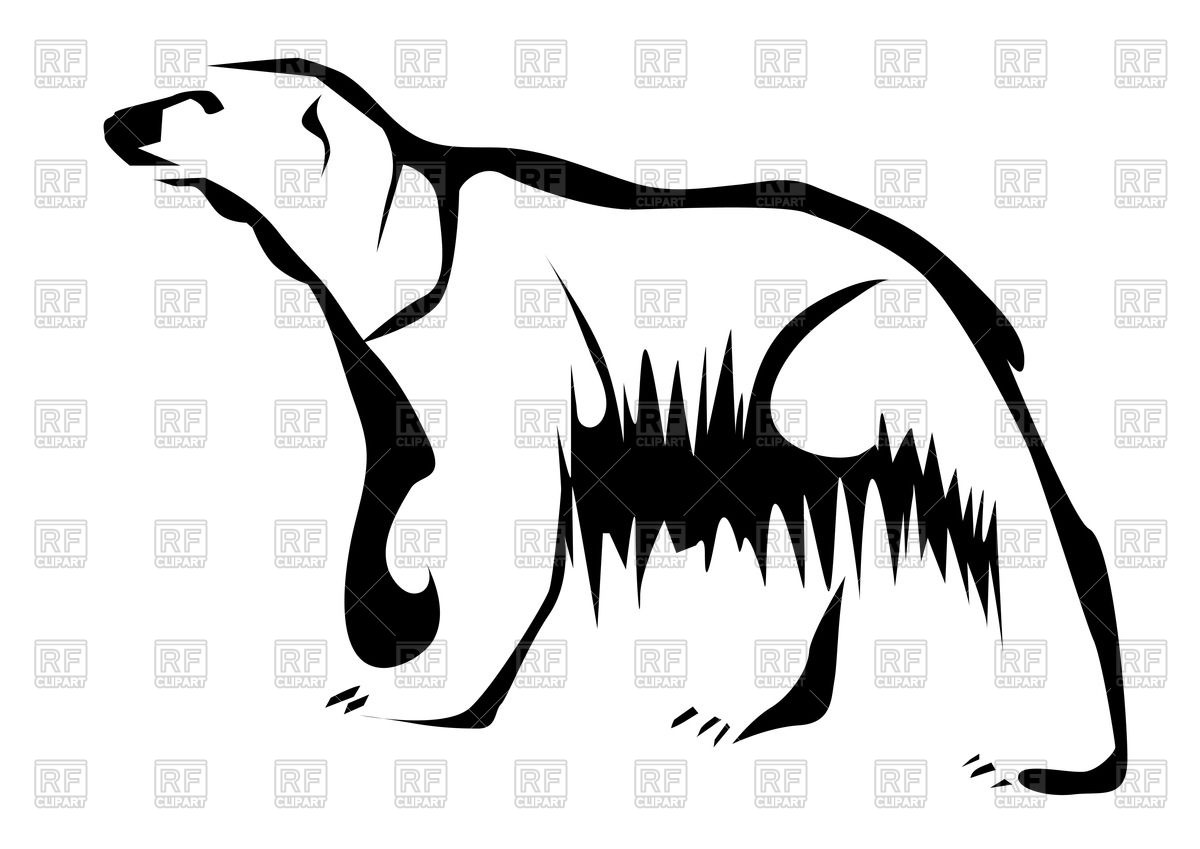 1200x849 Outline Of Polar Bear Vector Image Vector Artwork Of Plants And