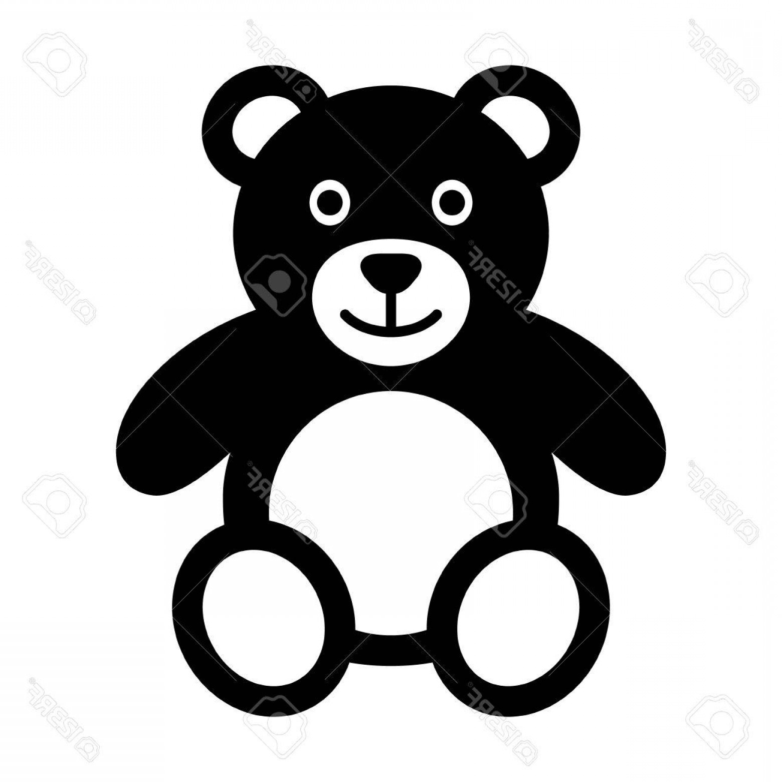 1560x1560 Photostock Vector Teddy Bear Plush Toy Flat Icon For Apps And