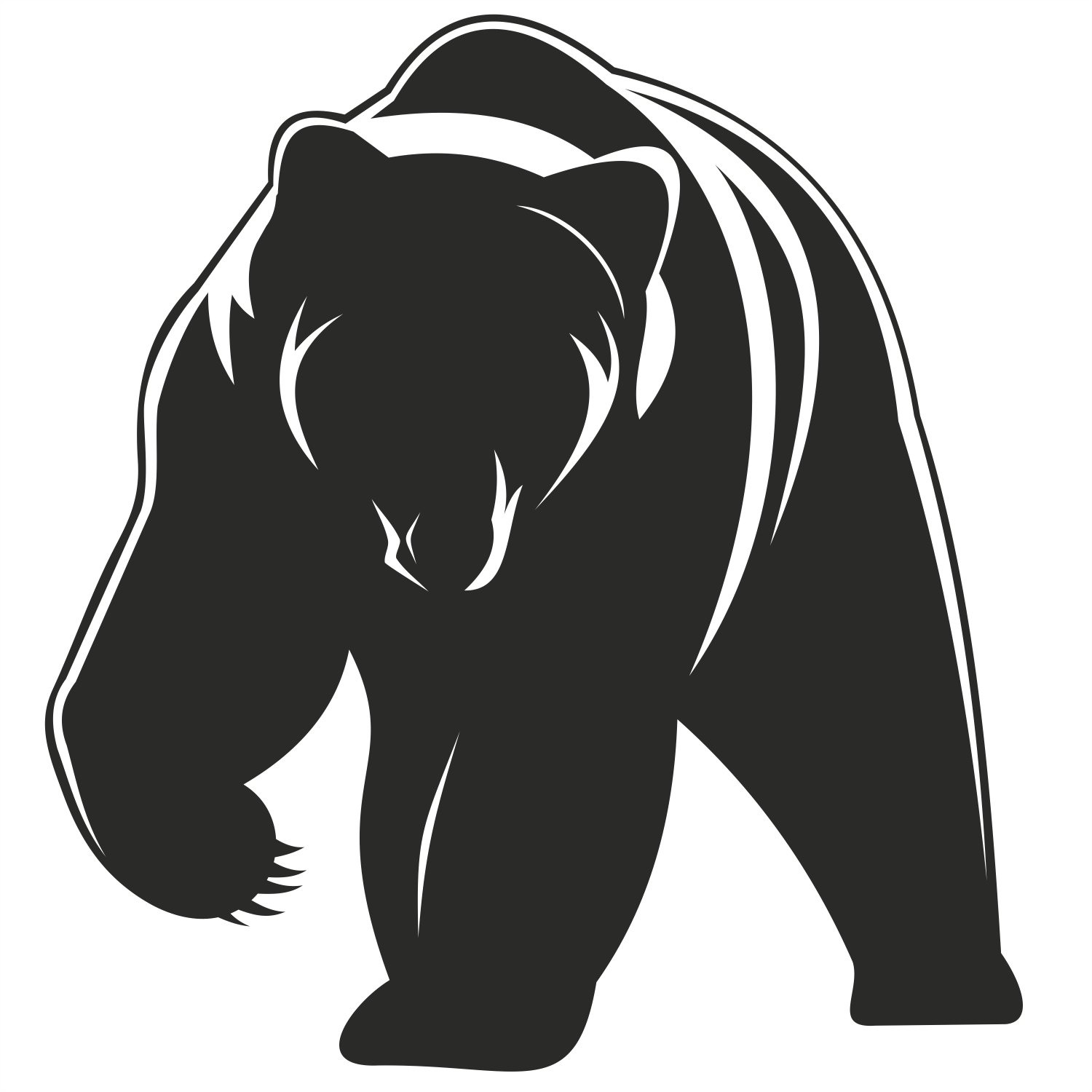 1500x1500 Pics For Gt Standing Grizzly Bear Vector Bears