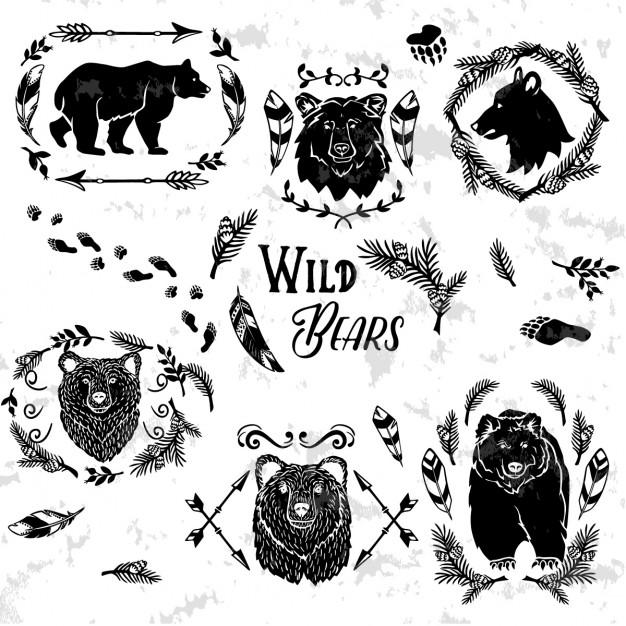 626x626 Wild Bears Vector Free Download