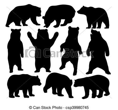 450x417 Bear Vector Silhouettes. Wildlife Animal,bear Silhouettes, Art