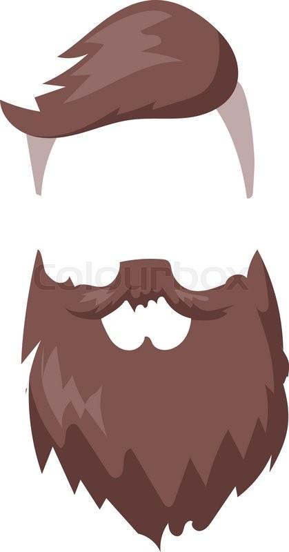 419x800 Hipster Fashion Men Fashion Hair And Beard Vector Illustration