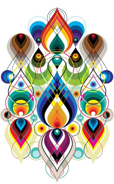 443x713 Beautiful Vector Art