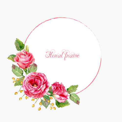 500x500 Beautiful Pink Flower Vector Art Background 02 Free Download