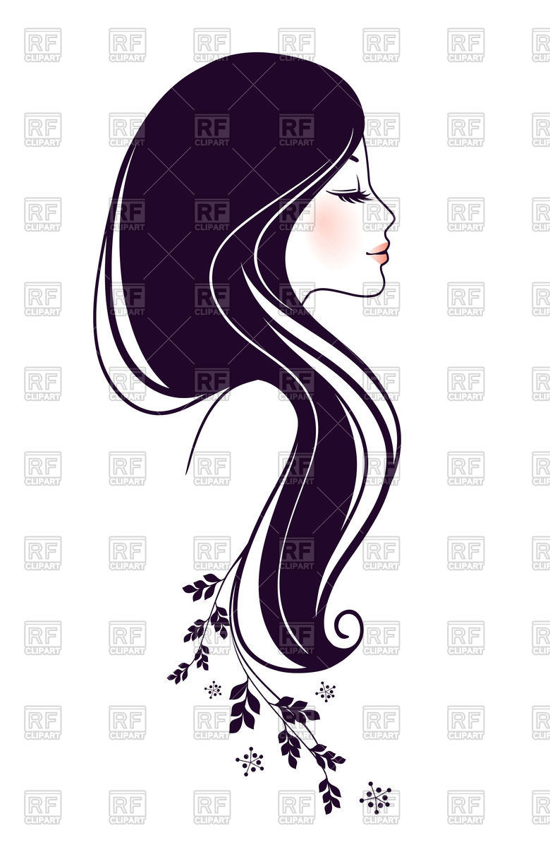 780x1200 Outline Of Beautiful Woman Profile Vector Image Vector Artwork
