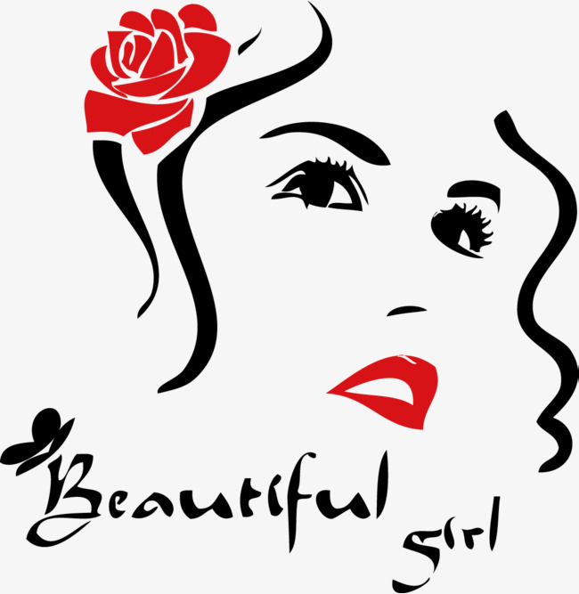 650x667 Beauty Picture Vector Woman Face Red Lip Beauty, Beauty Vector