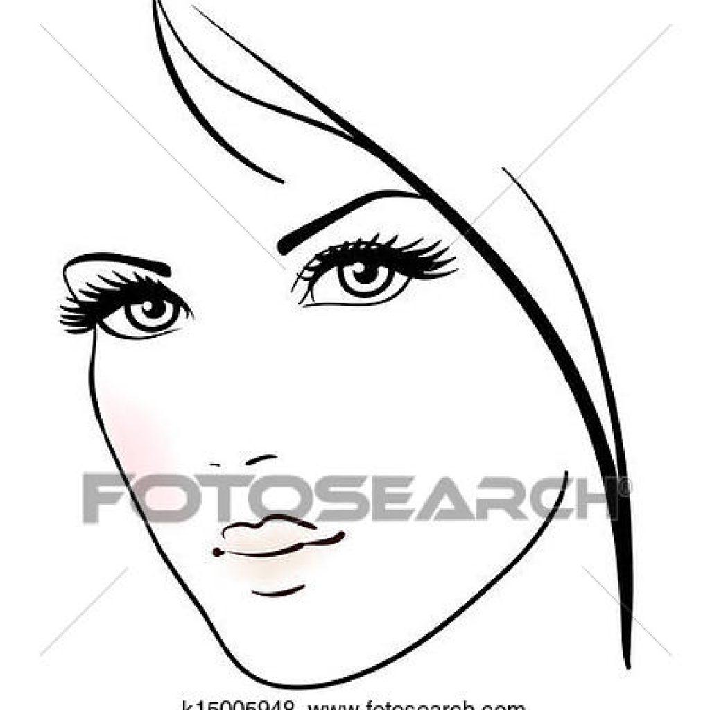 1024x1024 Clip Art Face Clipart Of Beauty Girl Beautiful Woman Vector