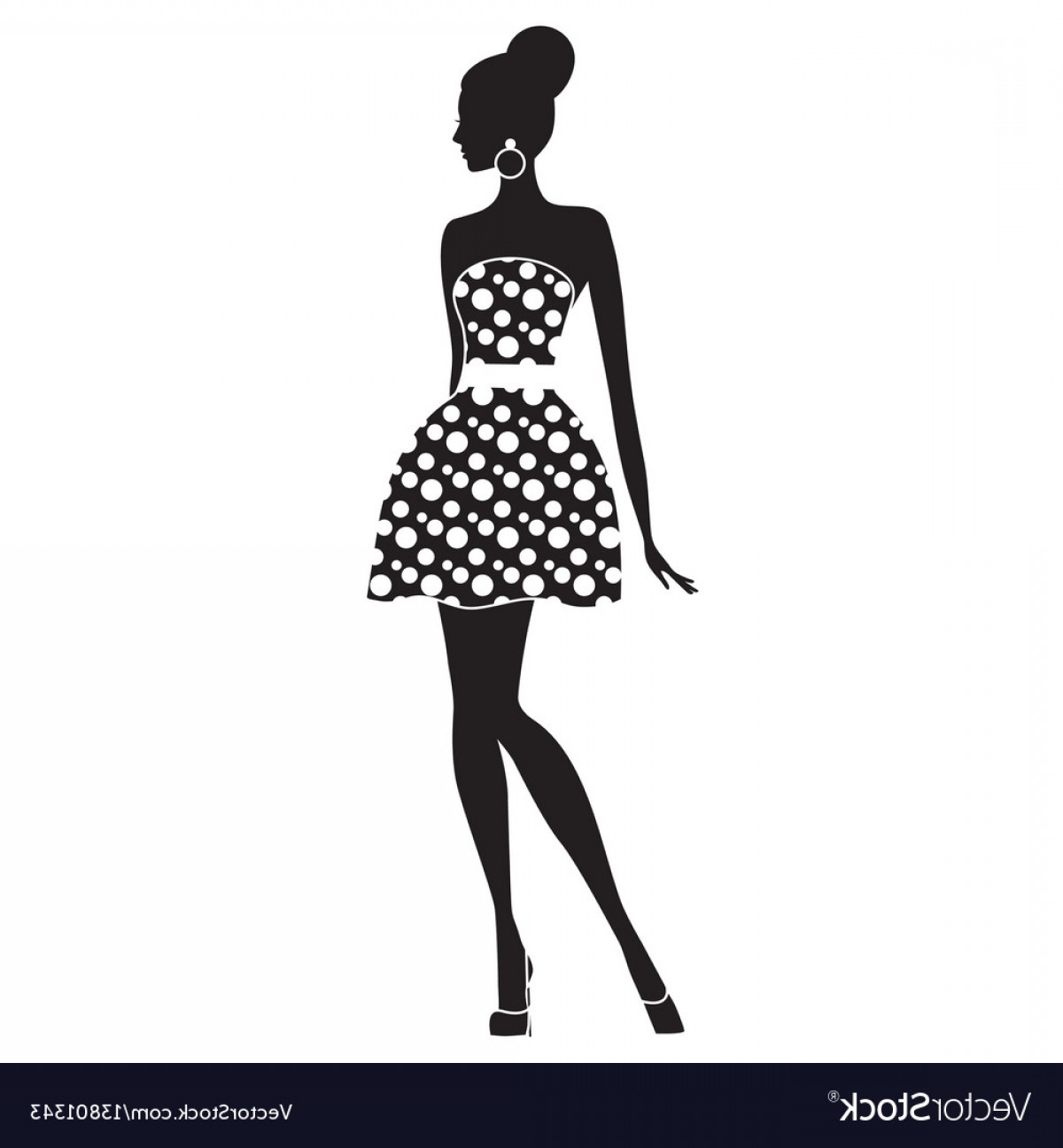 1200x1296 Fashion Model Silhouette Of Beautiful Woman Vector Arenawp