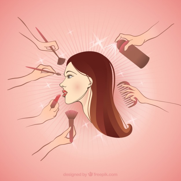 626x626 Making Up A Beautiful Woman Vector Free Download