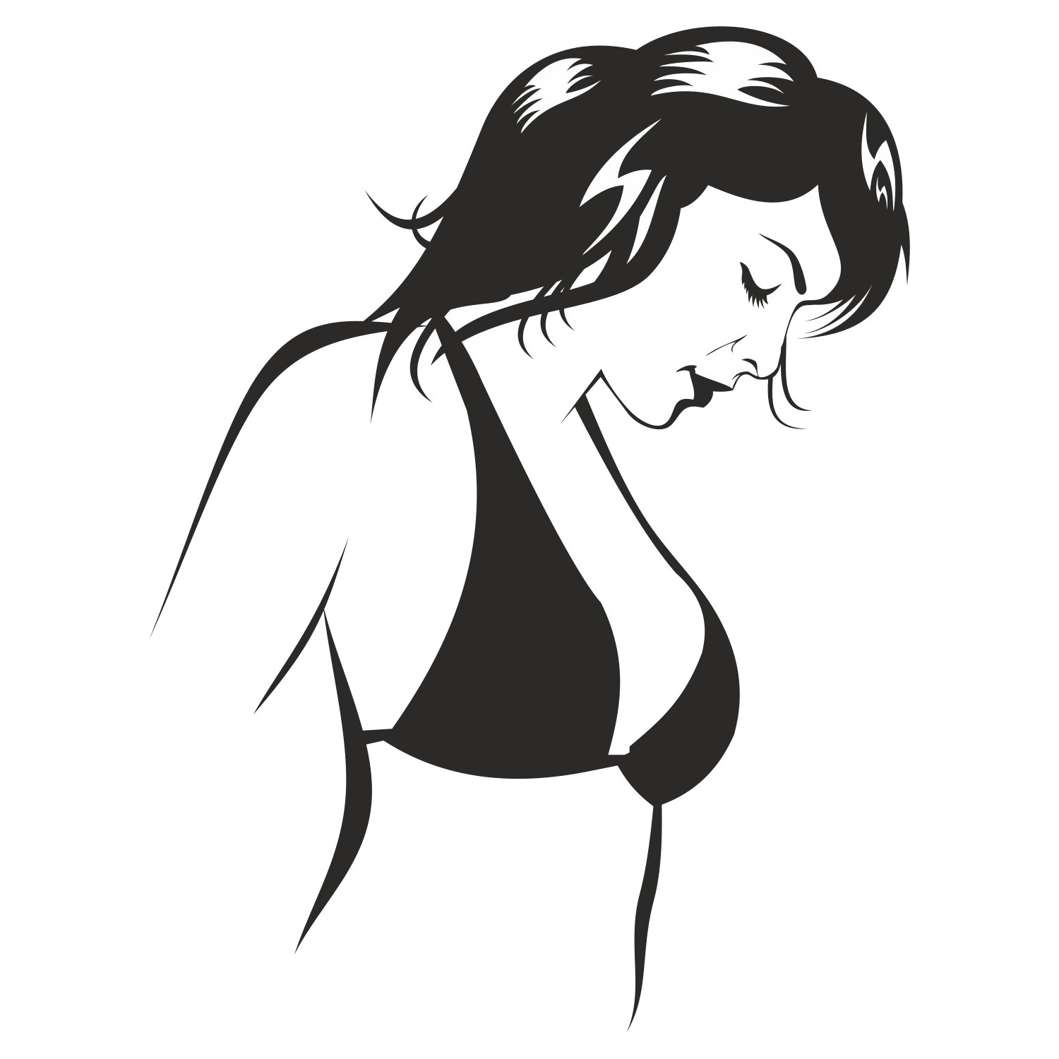 1500x1500 Vector For Free Use Beautiful Woman Vector