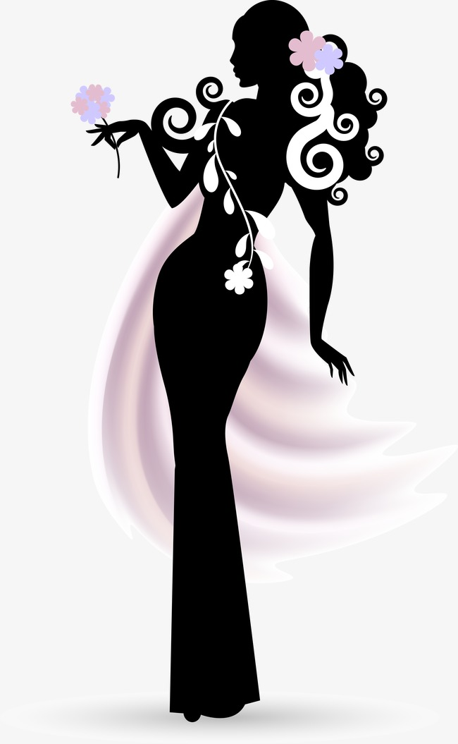 650x1055 Beautiful Woman Vector Effect, Woman Vector, Woman Clipart, Vector