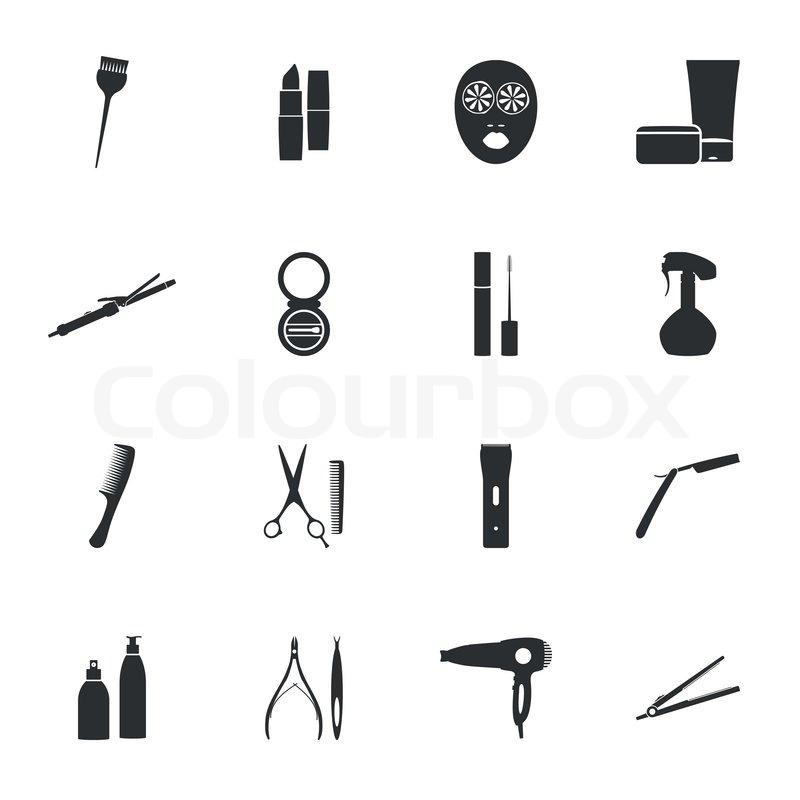 800x800 Beauty Salon Flat Icons Set Vector Graphic Design Stock Vector