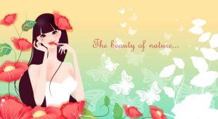 310x170 Cartoon Beauty Background 04
