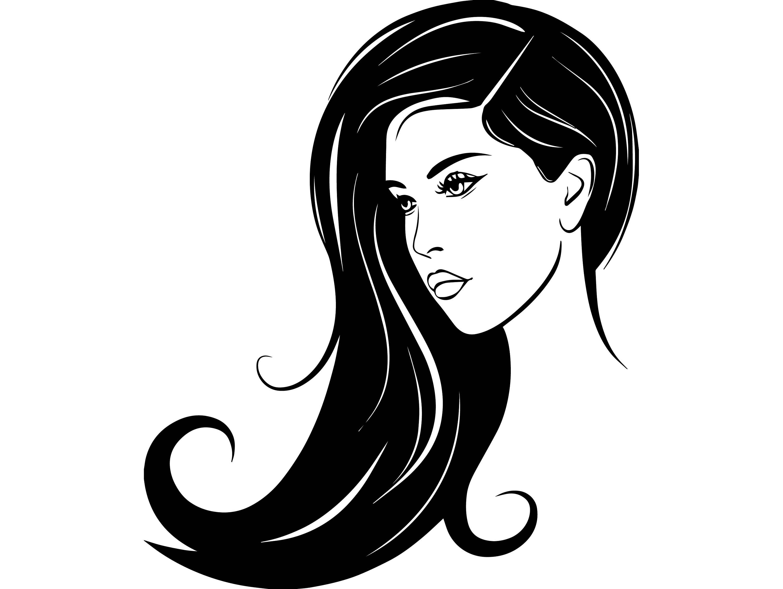 3000x2255 Haircut Clipart Beauty Parlour Girl ~ Frames ~ Illustrations ~ Hd