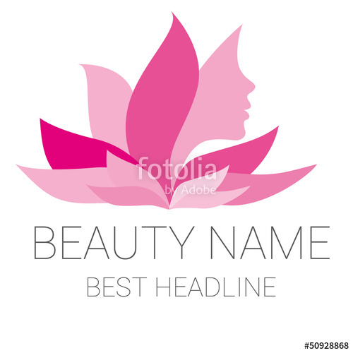 500x500 Leaf Woman Pink Beauty Vector Logo Stock Image And Royalty Free
