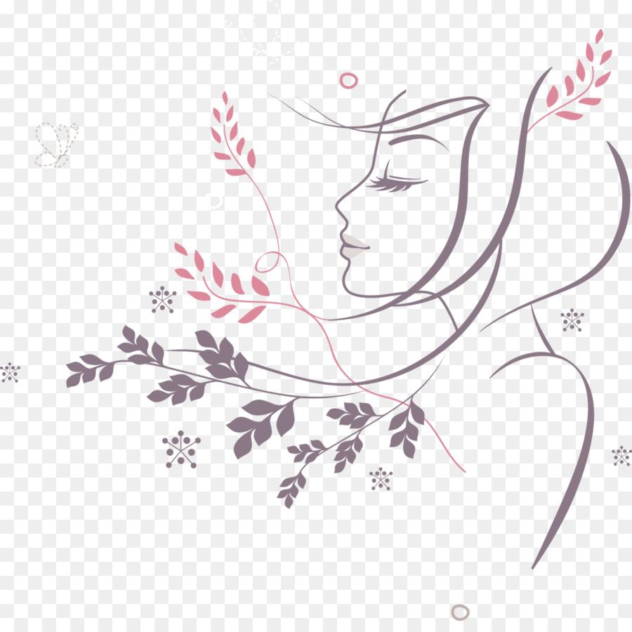 900x900 Woman Flower Clip Art