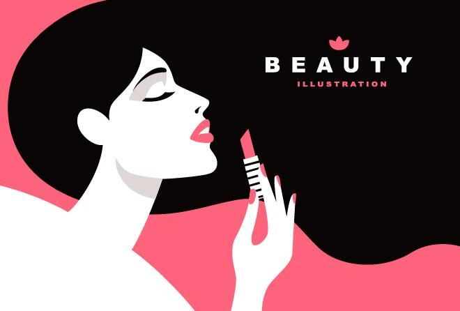 660x446 Woman With Beauty Illustration Vector 05 Free Download