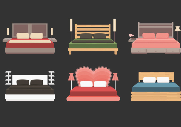 632x443 Headboard With Bed Vector Collection Free Vector Download 443901