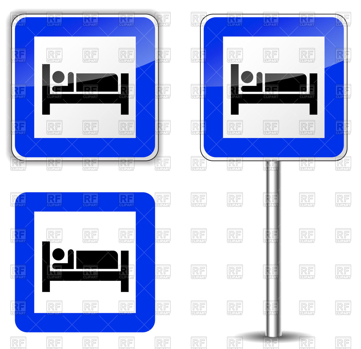 1200x1161 Hotel Square Road Signs
