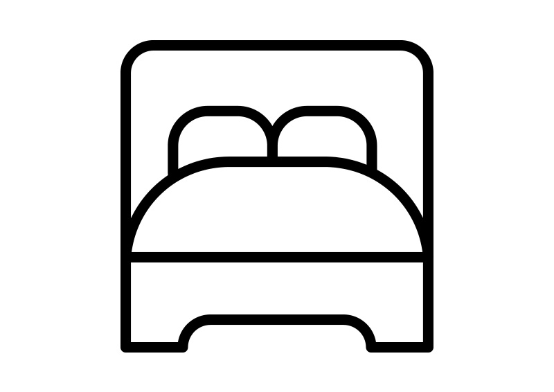 800x566 Bed Outline Vector Icon