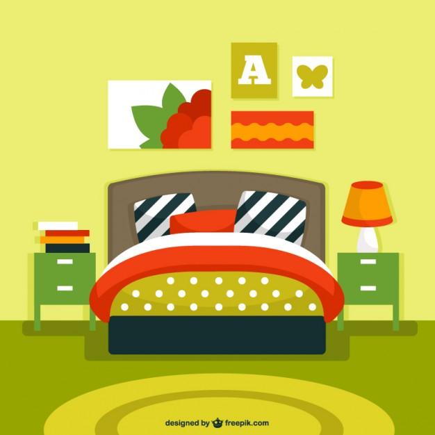 626x626 Bedroom Interior Vector Vector Free Download