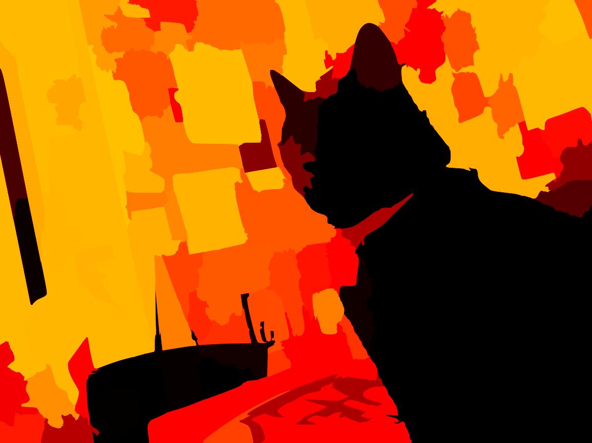 1155x866 Black Cat On Bed In Bedroom Vector Darker Free Images