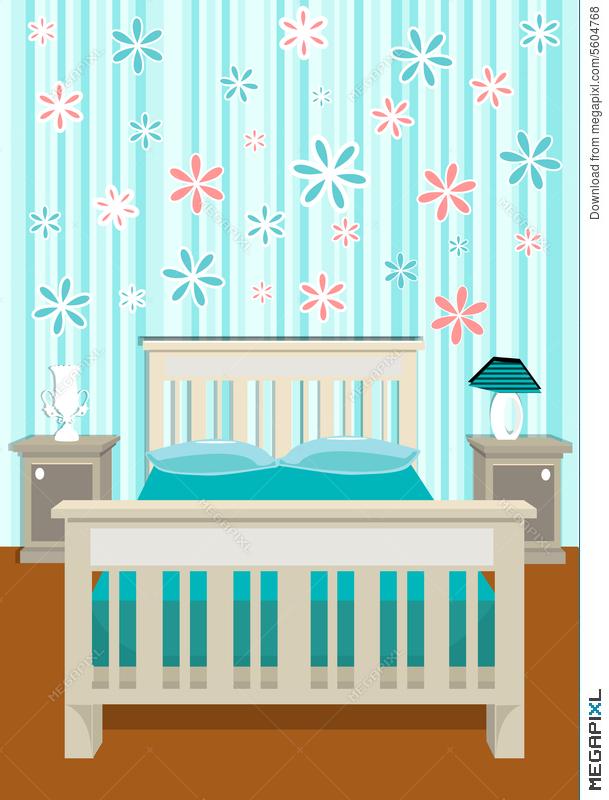 609x800 Cute Bedroom Vector Illustration 5604768