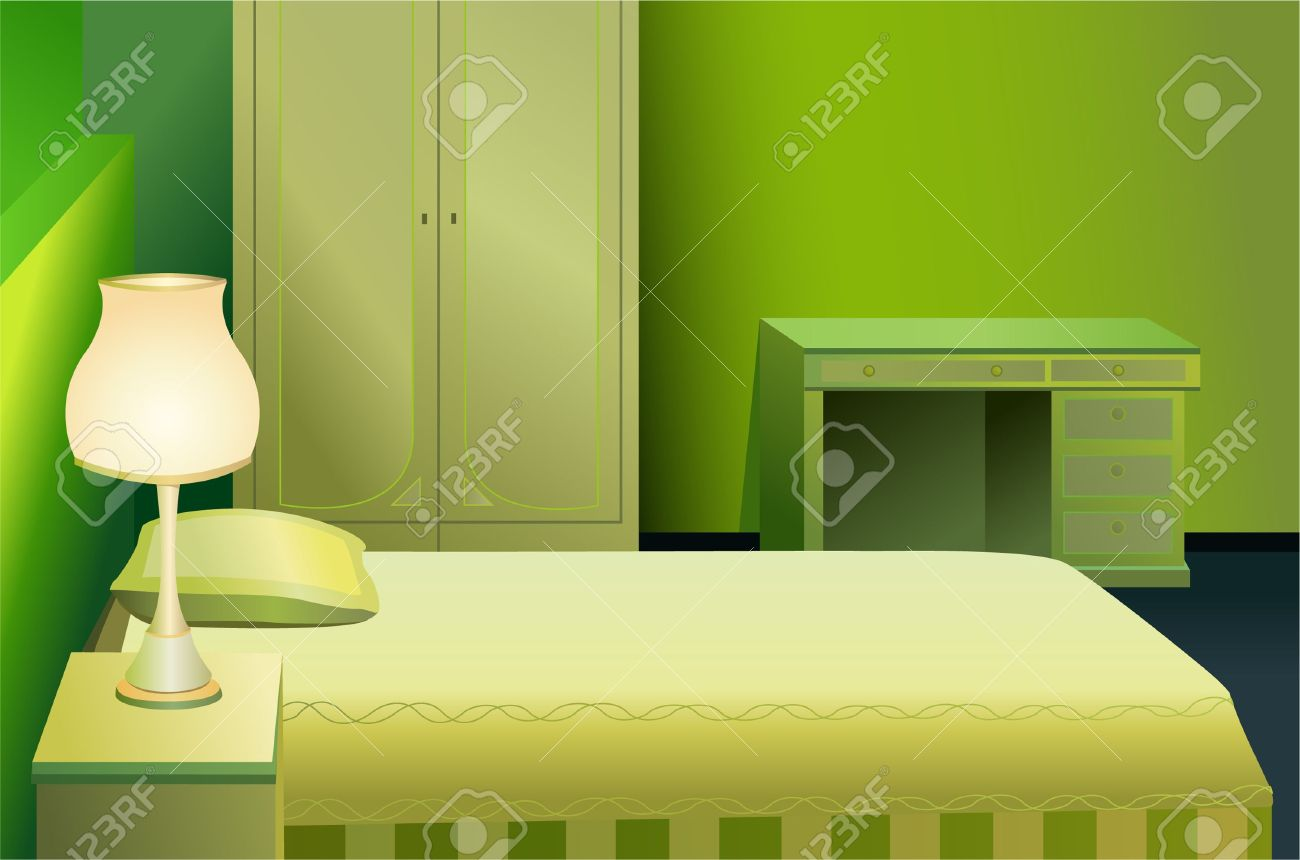 1300x860 Bed Clipart Green