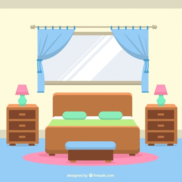 626x626 Bedroom Clipart Vector