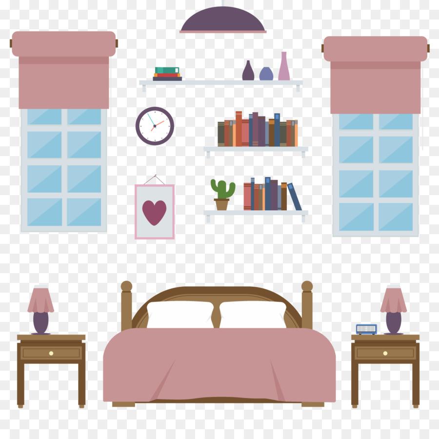 900x900 Bedroom Furniture Illustration