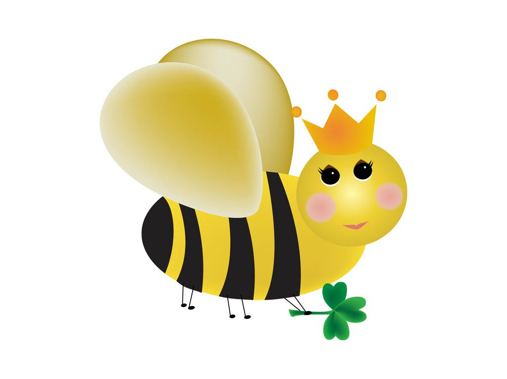 1024x765 Cartoon Queen Bee Vector Art Amp Graphics