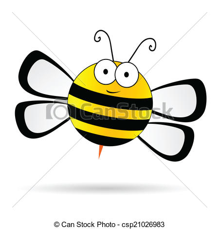 450x470 Cute Bee Vector Illustration On White Background.