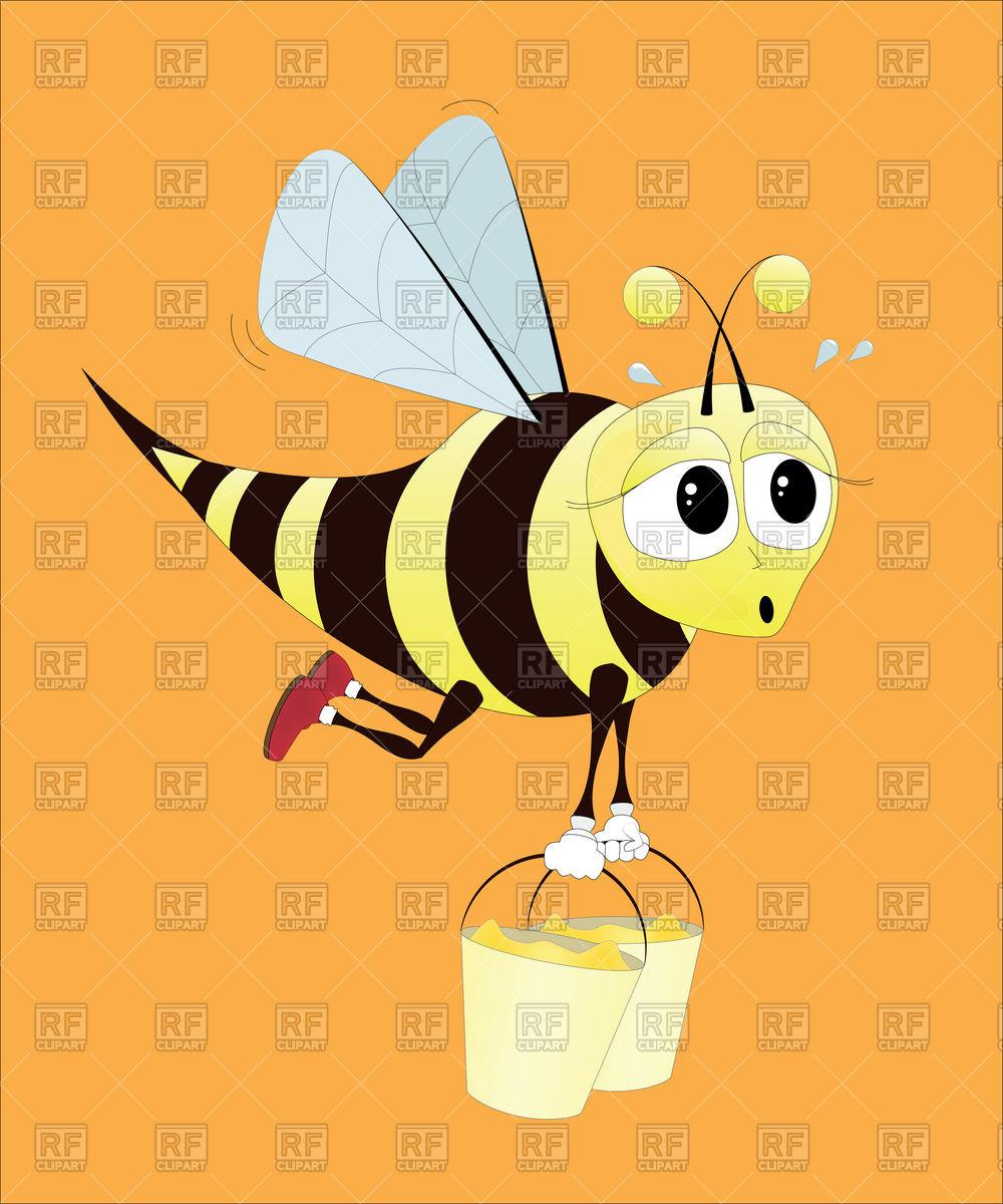 1000x1200 Hard Working Bee Vector Image Vector Artwork Of Plants And