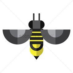 236x236 Honey Bee Vector Graphic Bee Clip Art Bees And Honey