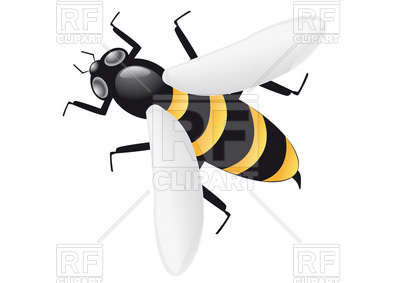 400x283 Bee Vector Image Vector Artwork Of Plants And Animals