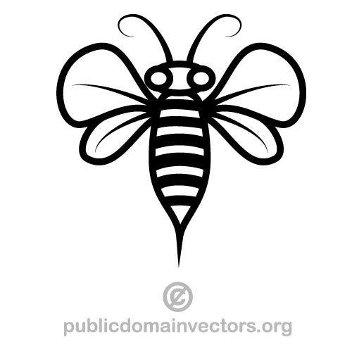 500x500 Bee Vector Art Public Domain Vectors