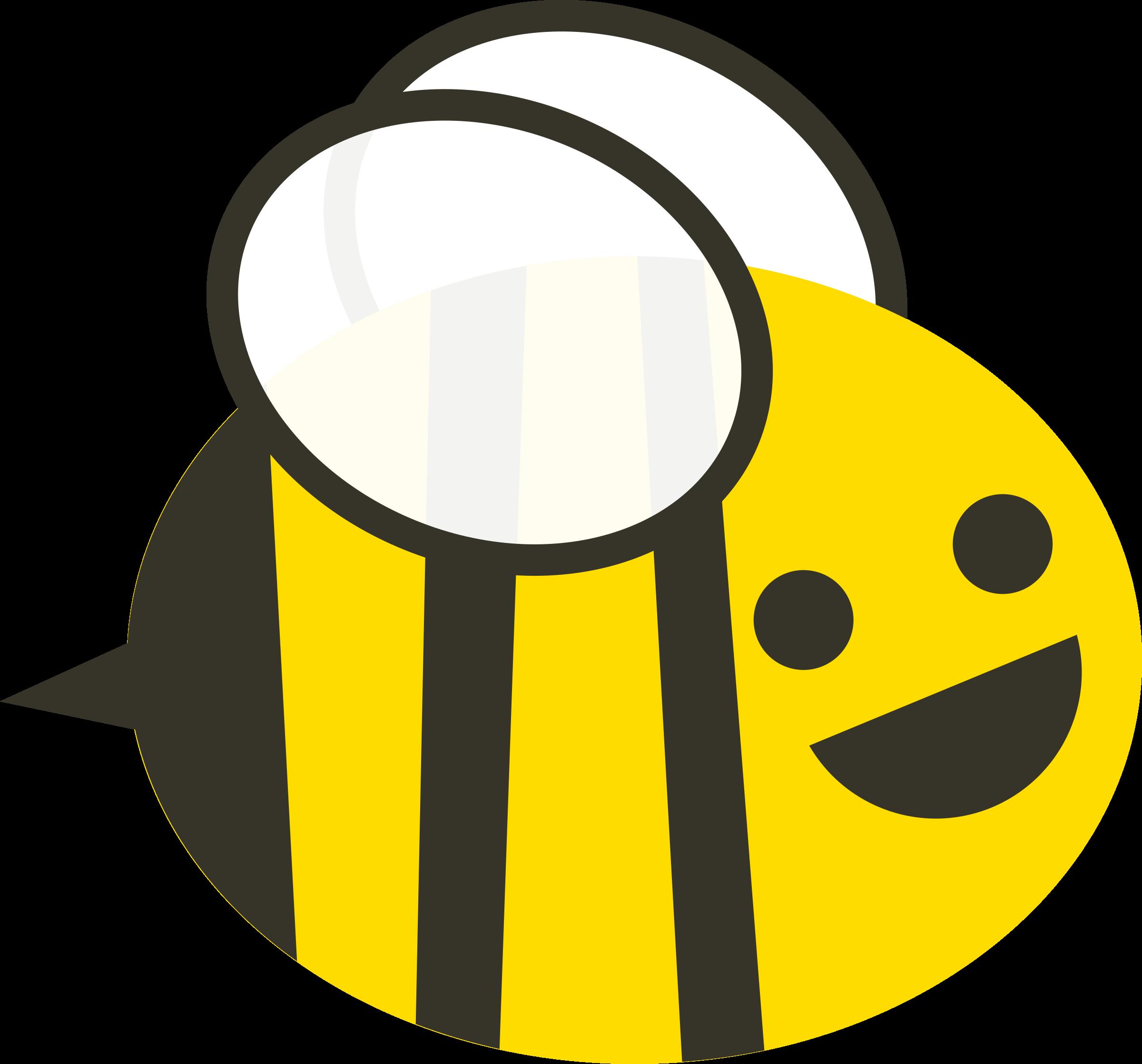 2400x2236 Cartoon Bee Vector Art Image