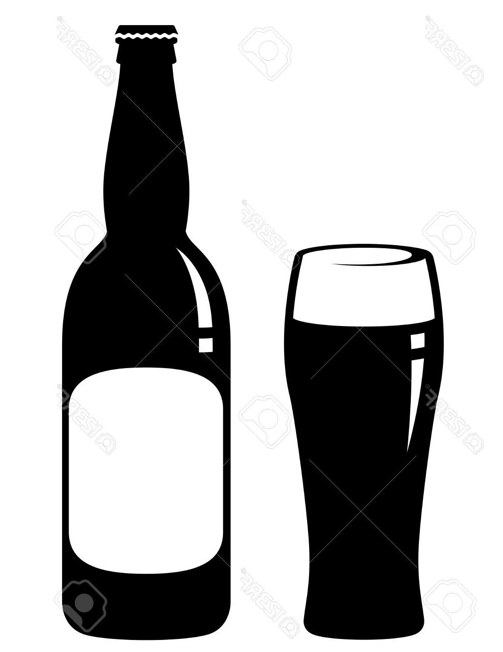 1004x1300 Black Clipart Beer Bottle