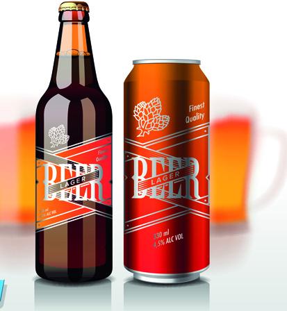 413x448 Different Beer Bottle Design Elements Vector 01 Free Download
